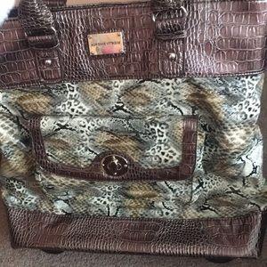Handbags - Adrienne vittadini snakeskin luggage bag brand new